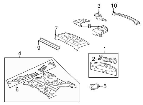 OEM 2000 Pontiac Sunfire Rear Body & Floor Parts