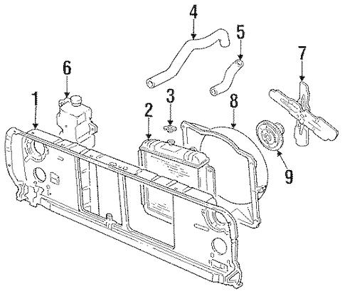 Dodge Dakota Fan Shroud, Dodge, Free Engine Image For User