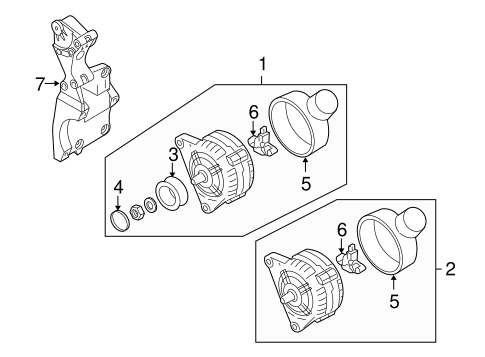 Alternator/Generator & Related Components for 2008 Audi TT