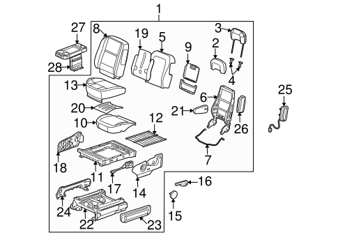 Front Seat Components for 2006 Buick Terraza