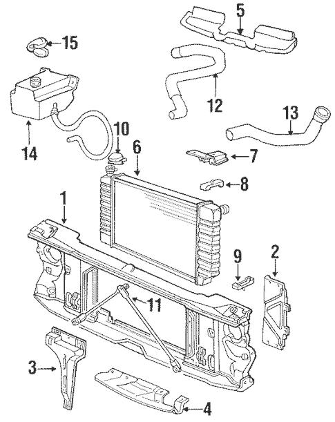 Radiator & Components for 1994 Chevrolet K1500 Pickup