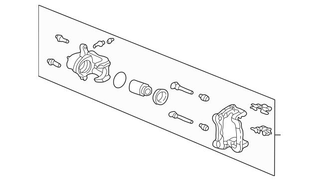 2006-2014 Honda RIDGELINE SEDAN Caliper Sub-Assembly, R