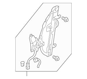 Genuine 2003-2008 Honda PILOT 5-DOOR Regulator Assembly, R