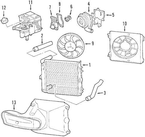 Radiator & Components for 2006 Porsche Cayman