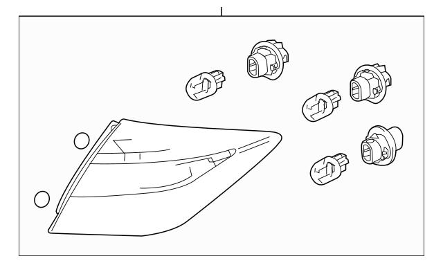 2013-2015 Honda CROSSTOUR 5-DOOR Taillight Assembly, R