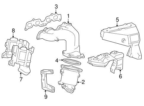 Genuine OEM Exhaust Components Parts for 1997 Toyota RAV4