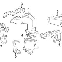 Toyota Rav4 Exhaust System Diagram 2001 Chevy Suburban Headlight Wiring Genuine Oem Manifold Parts For 1997 Base