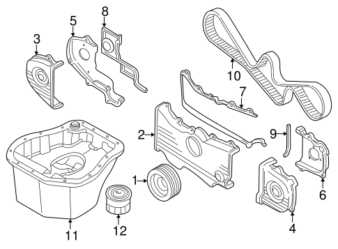 Subaru Impreza Timing Belt, Subaru, Free Engine Image For