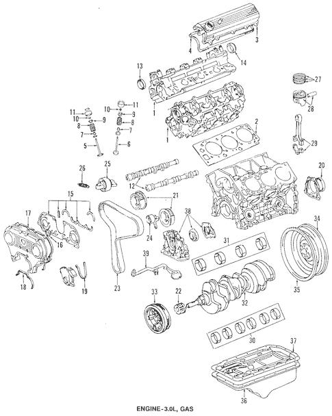 Genuine OEM Oil Pan Parts for 1994 Toyota 4Runner SR5