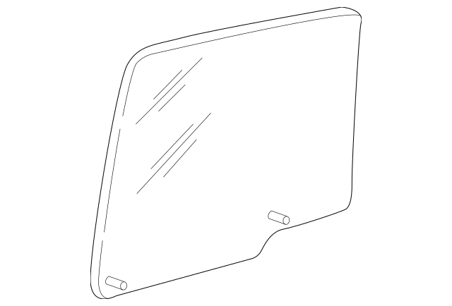Genuine OEM 1997-2001 Ford Expedition Door Glass