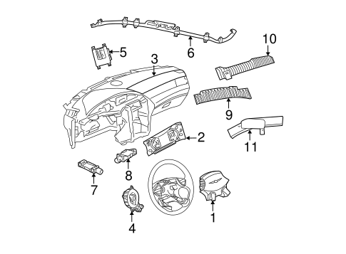 Air Bag Components for 2004 Chrysler Pacifica Parts