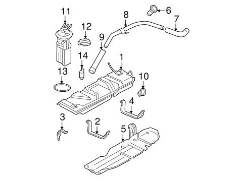 OEM 2003 Chevrolet Blazer Fuel System Components Parts