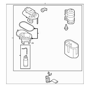 2017-2019 Kia Optima Fuel Pump Assembly 31110-E6800