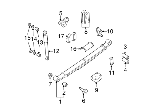 REAR SUSPENSION for 2002 Nissan Xterra