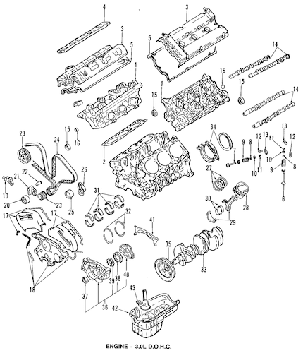 ENGINE PARTS for 1993 Dodge Stealth