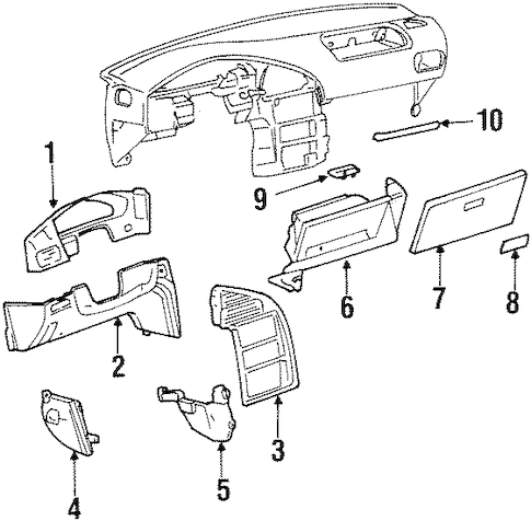Instrument Panel Components for 1999 Mercury Villager