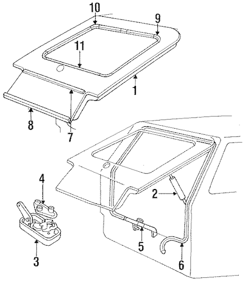 Service manual [1987 Mercury Lynx Seat Rail Guide