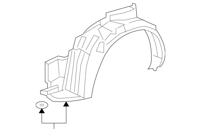 2007-2008 Honda FIT 5-DOOR Fender, R Front (Inner) 74101