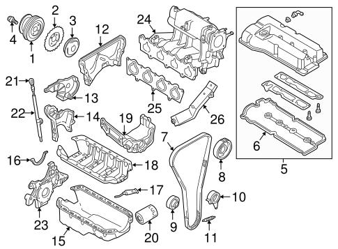 Genuine OEM Filters Parts For 2000 Mazda Protege LX