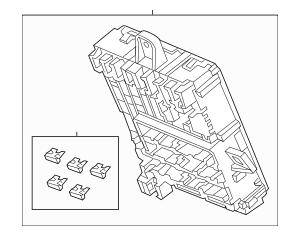 Honda Box Assembly, Fuse (Rewritable) 38200-T5A-A32