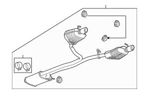 2007-2009 Suzuki XL-7 Muffler W/Tailpipe 1430078J01