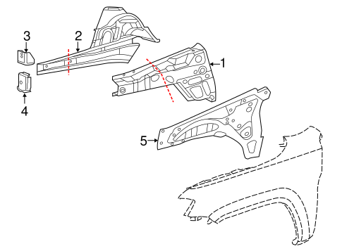Structural Components & Rails for 2013 Jeep Grand Cherokee