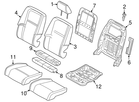 Passenger Seat Components for 2013 Dodge Journey Parts