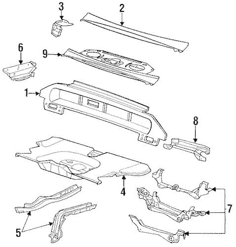 REAR BODY & FLOOR Parts for 1996 Buick LeSabre
