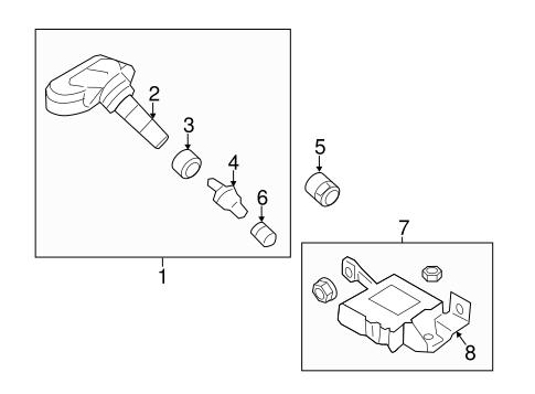 Tire Pressure Monitor Components for 2010 Hyundai Genesis