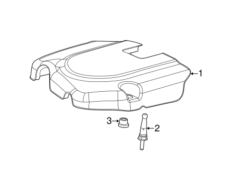 Engine Appearance Cover for 2012 Dodge Grand Caravan Parts