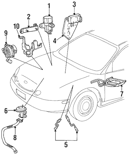 POWERTRAIN CONTROL for 1997 Ford Taurus