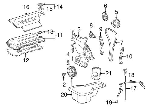 Genuine OEM Engine Parts Parts for 2002 Toyota MR2 Spyder