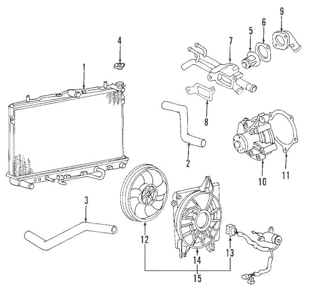 2007-2009 Kia Sorento Fan Motor 25386-3E930 Kia Parts