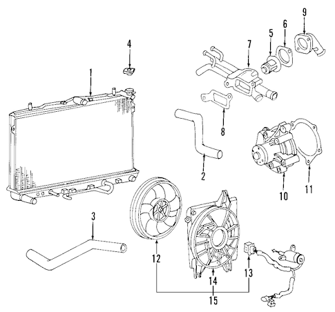 2009 Kia Borrego Engine Parts Diagram 2005 Kia Rio Engine