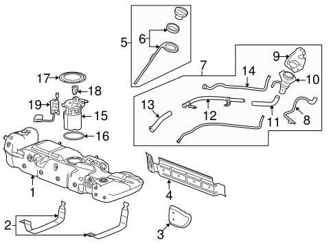 FUEL SYSTEM COMPONENTS for 2009 Chevrolet Tahoe (Hybrid)
