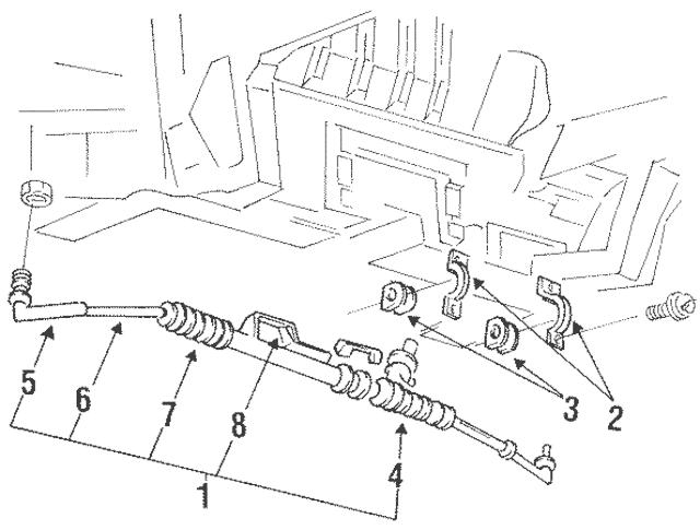1993-2002 Mercury Villager Gear Assembly Bracket F3XY
