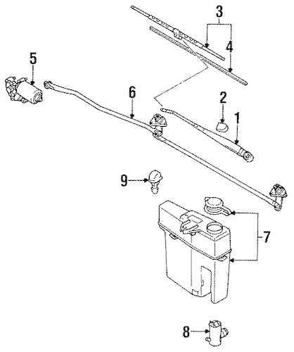 Wiper & Washer Components for 1994 Toyota Pickup