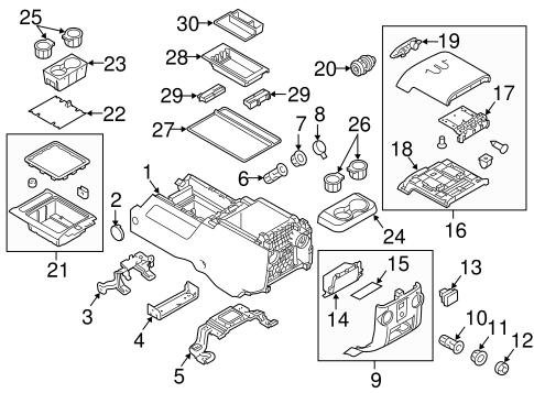 2011-2016 Ford F250 F350 Super Duty Center Console Tray