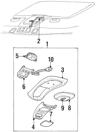 Overhead Console for 1999 Mercury Mountaineer