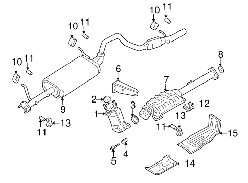 OEM Exhaust Components for 1999 Chevrolet Tracker
