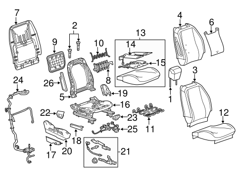 Passenger Seat Components for 2015 Chevrolet Equinox