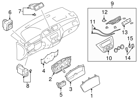 Lighting Parts Diagram 2007 Mitsubishi Outlander