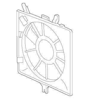Genuine 2007-2008 Honda FIT 5-DOOR Shroud, Air Conditioner