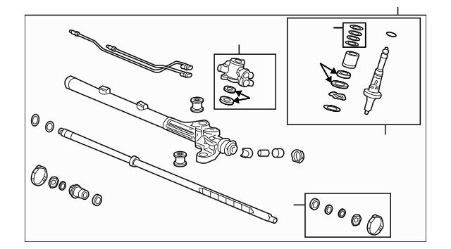 Genuine OEM Rack, Power Steering Part# 53601-SEC-A07 Fits