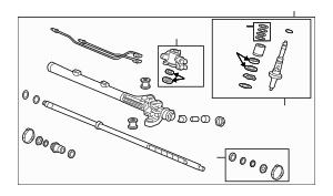 2006-2008 Acura TSX SEDAN Rack, Power Steering 53601-SEC