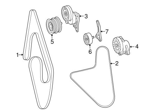 Belts & Pulleys for 2006 Mercedes-Benz CLS 55 AMG