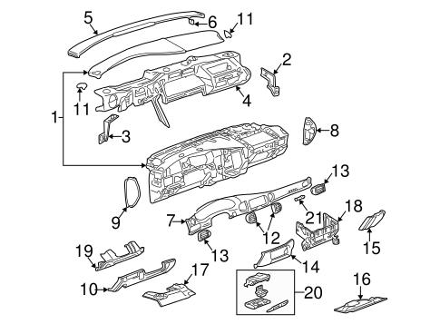 OEM 2003 Buick Century Instrument Panel Components Parts