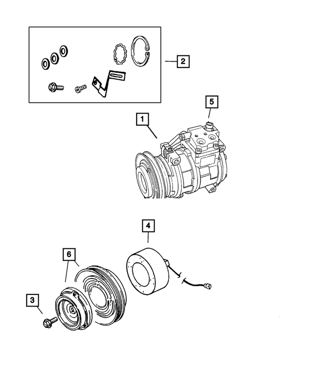Mopar Air Conditioning Compressor 2004-2010 Chrysler PT