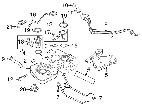 Fuel System Components for 2014 Ford Police Interceptor