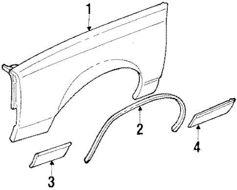FENDER for 1986 Oldsmobile Cutlass Supreme (Base)